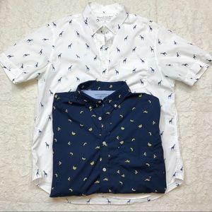 Banana Republic Luxe Poplin Slim Fit Shirt Bundle